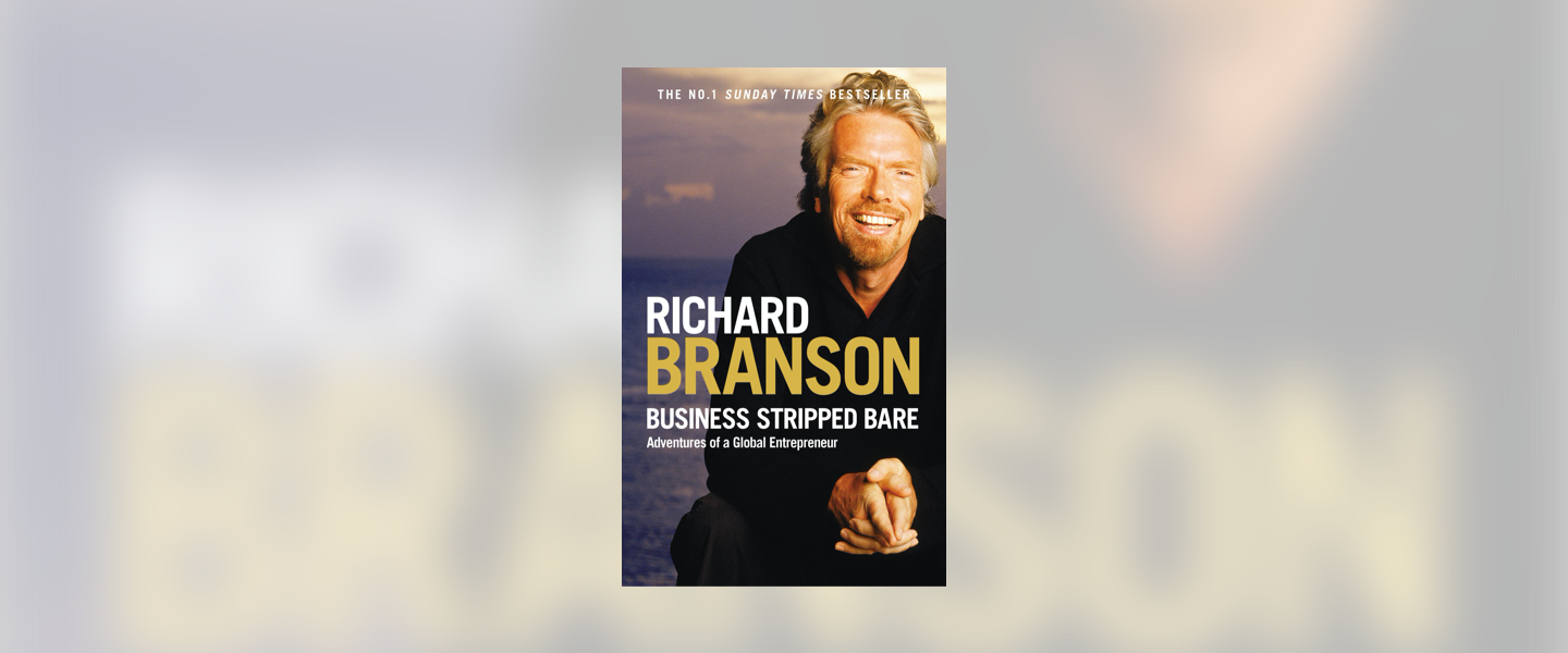 "Richard Bransons cover of ""Richard Branson Business striped Bare"""