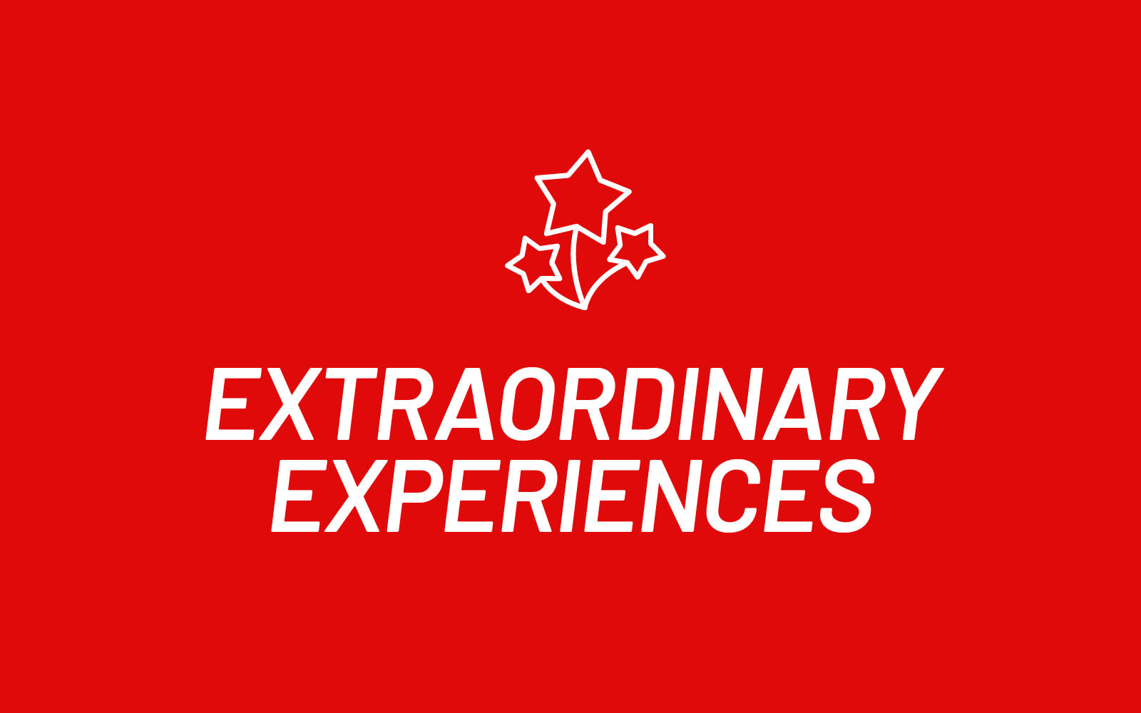 Virgin Red reward category extraordinary experiences