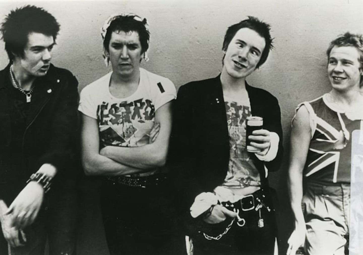 The Sex Pistols stood together