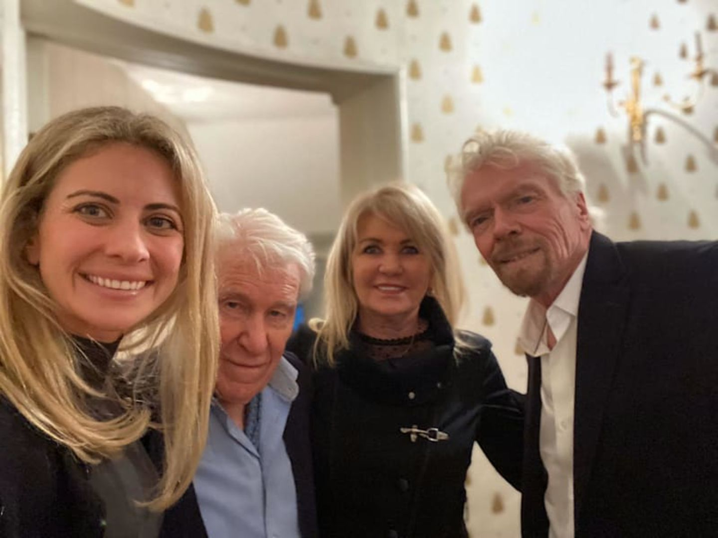 Richard, Joan and Holly Branson with Dr Peter Emerson