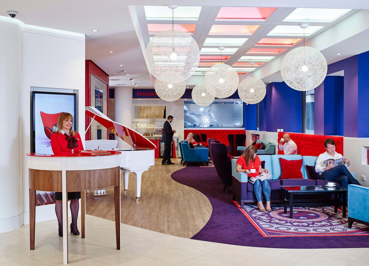 A Virgin Money lounge