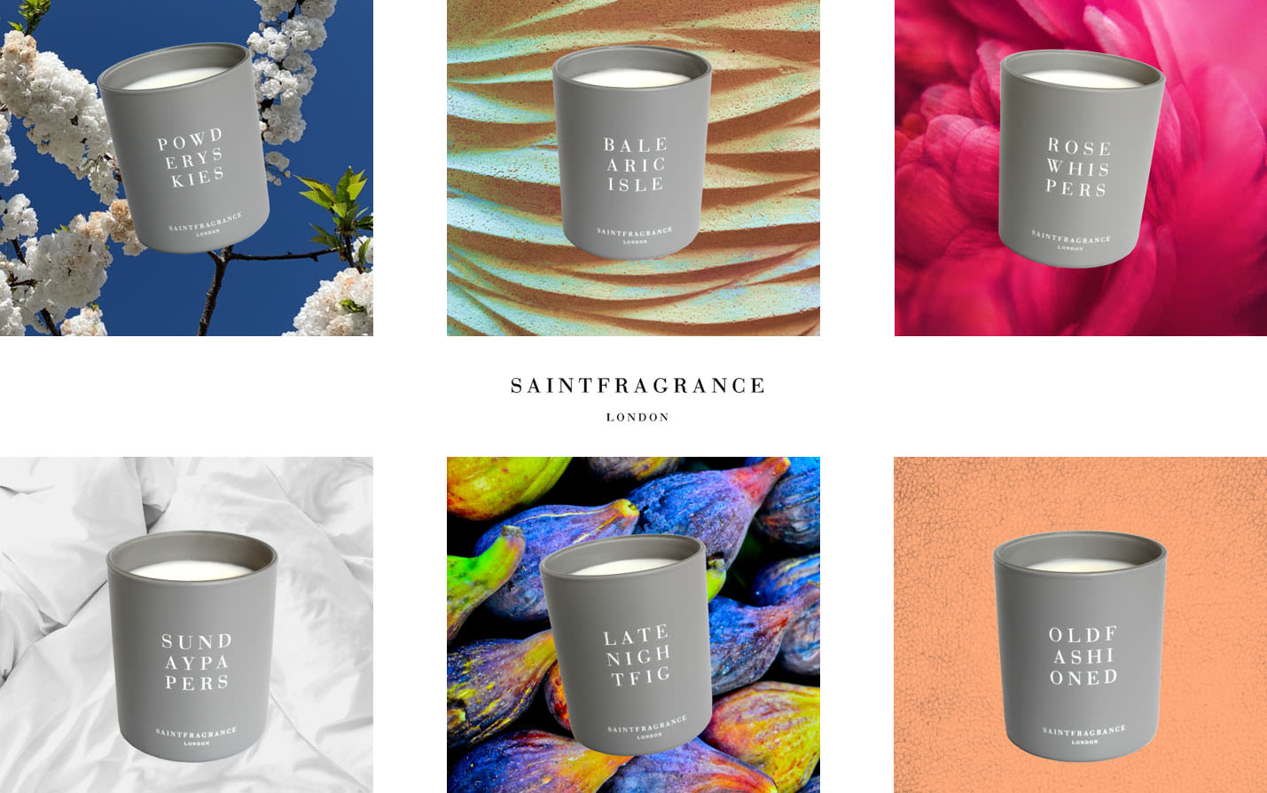 Six Saint Fragrance candles