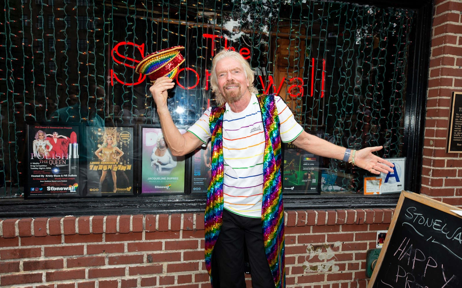 Richard Branson outside The Stonewall