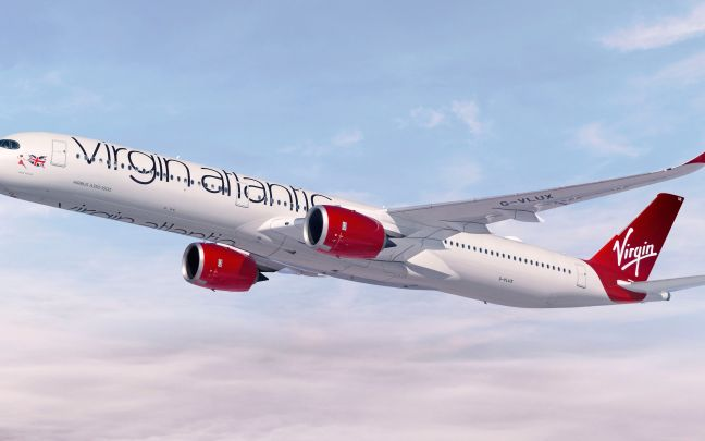 Virgin Atlantic plane in flight