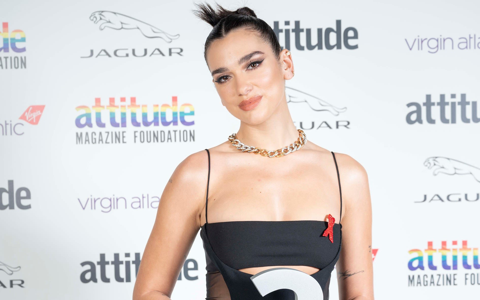 Dua Lipa at the Virgin Atlantic Attitude Awards 2020