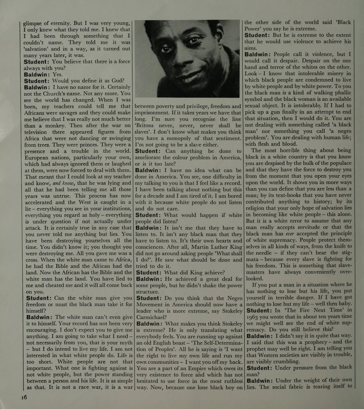 James Baldwin's interview with Richard Branson's Student Magazine