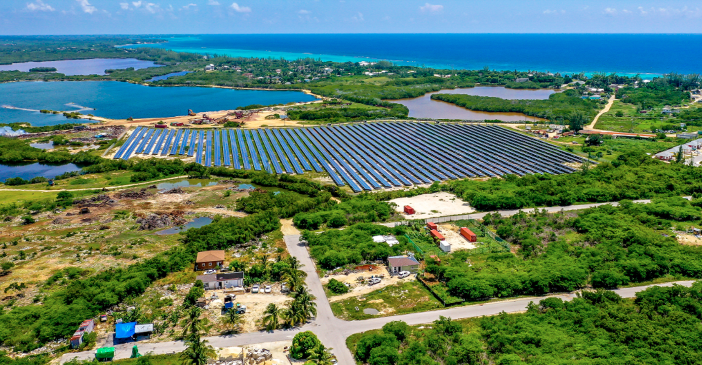 An image of BMR's solar project in the Caymans