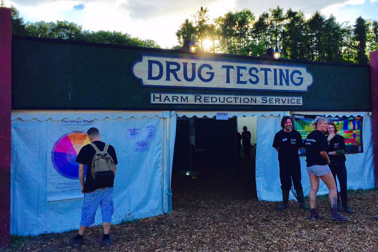 Drug Testing carried out by the charity The Loop at festivals.