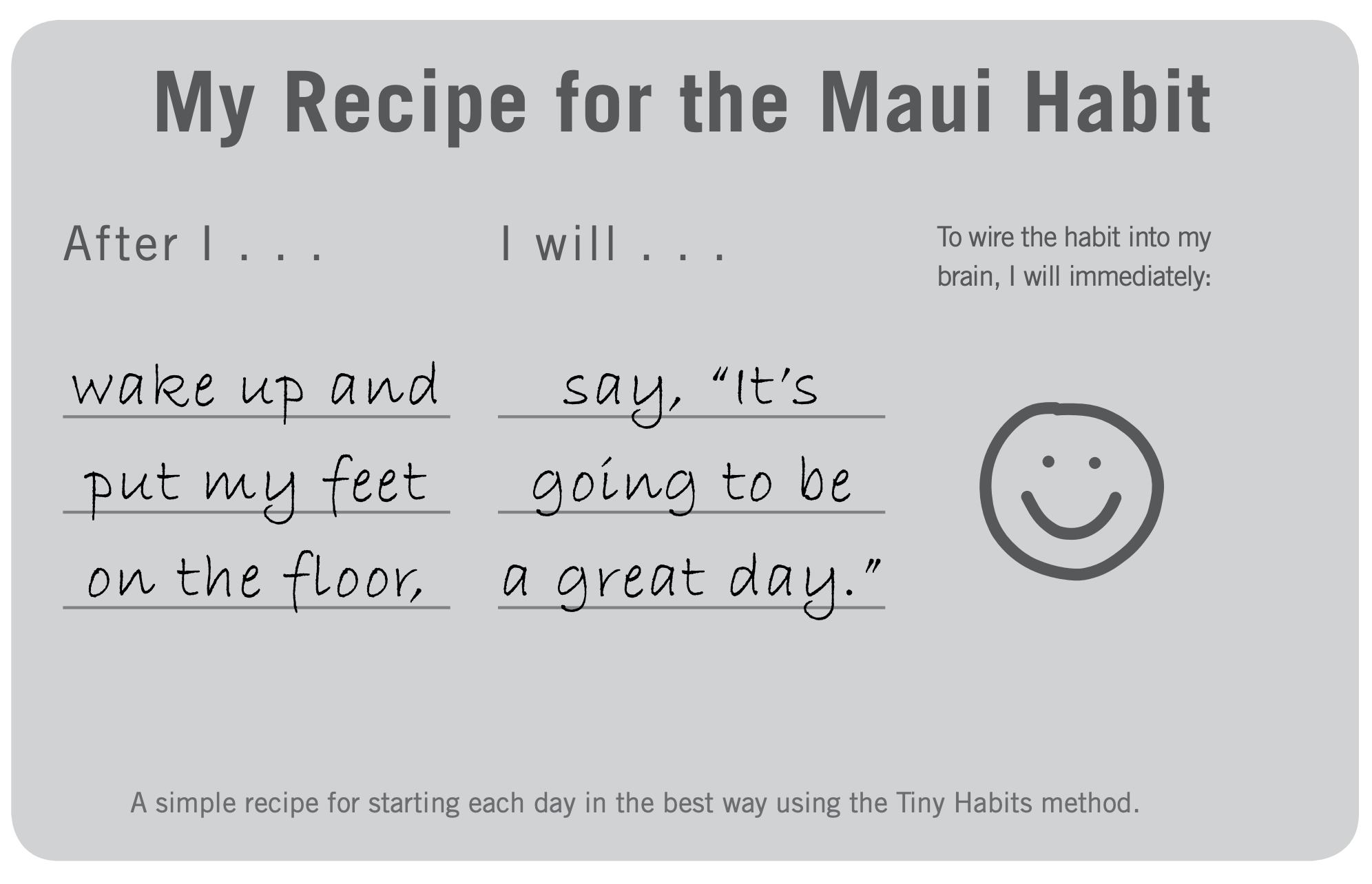 The recipe for the Maui Habit