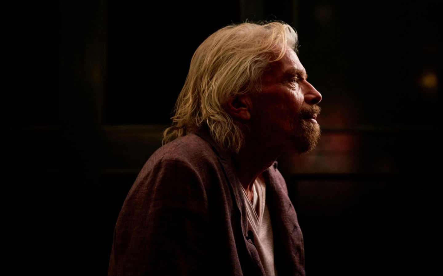Richard Branson looking serious