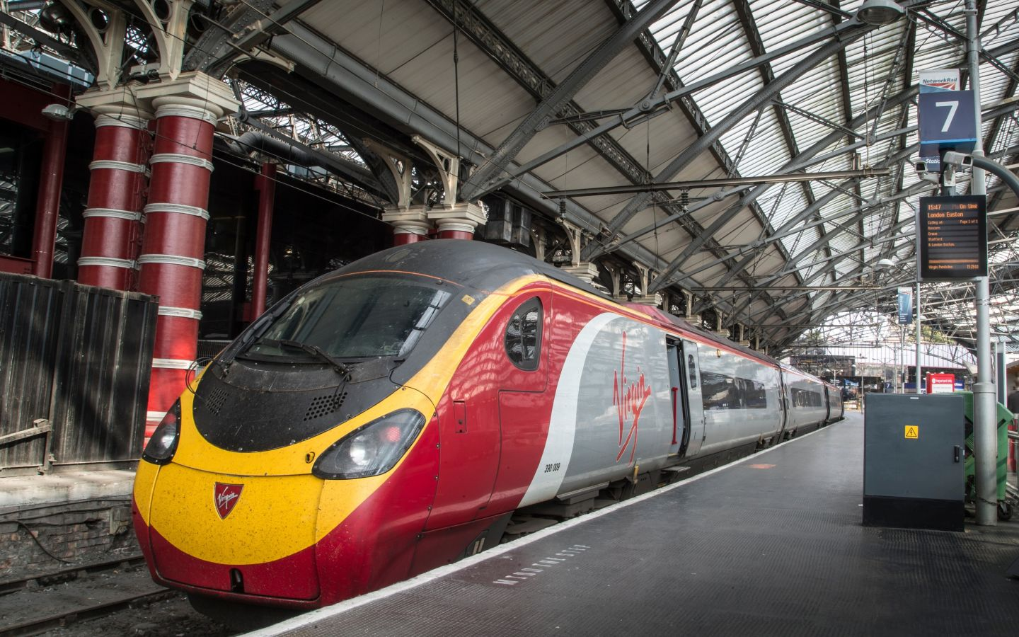 A Virgin Trains Pendolino at Liverpool Lime Street station