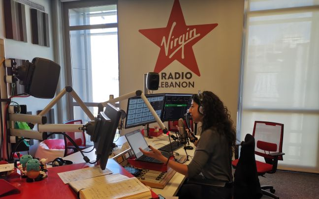 A studio at Virgin Radio Lebanon
