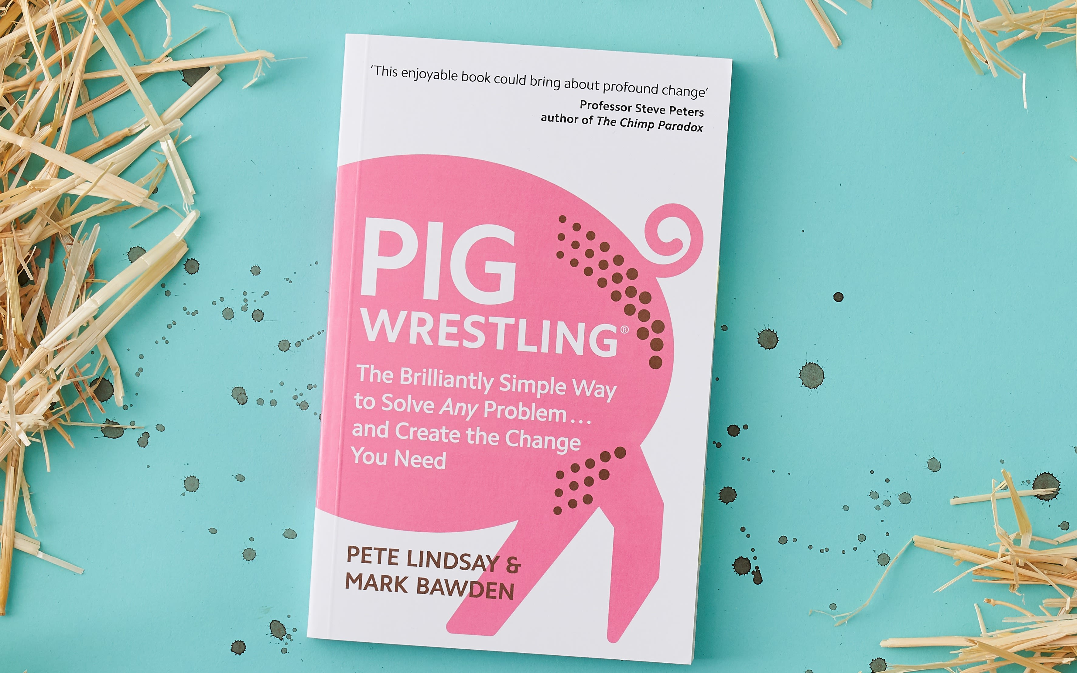 Front cover of a book called Pig Wrestling