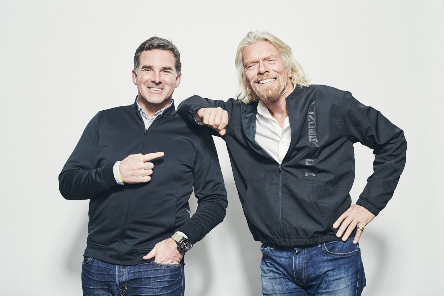 Richard Branson and Kevin Plank