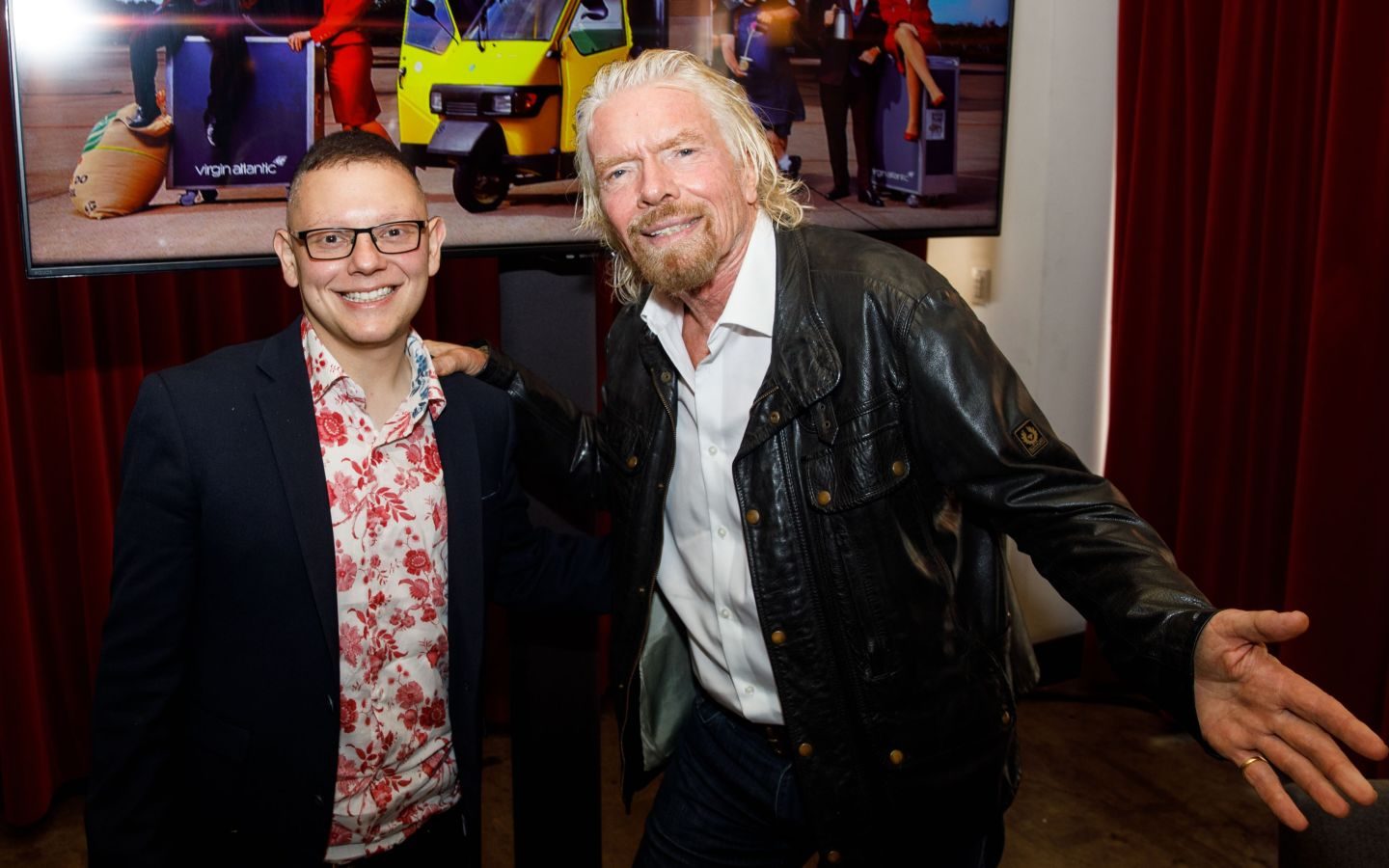 Change Please founder Cemal Ezel with Richard Branson