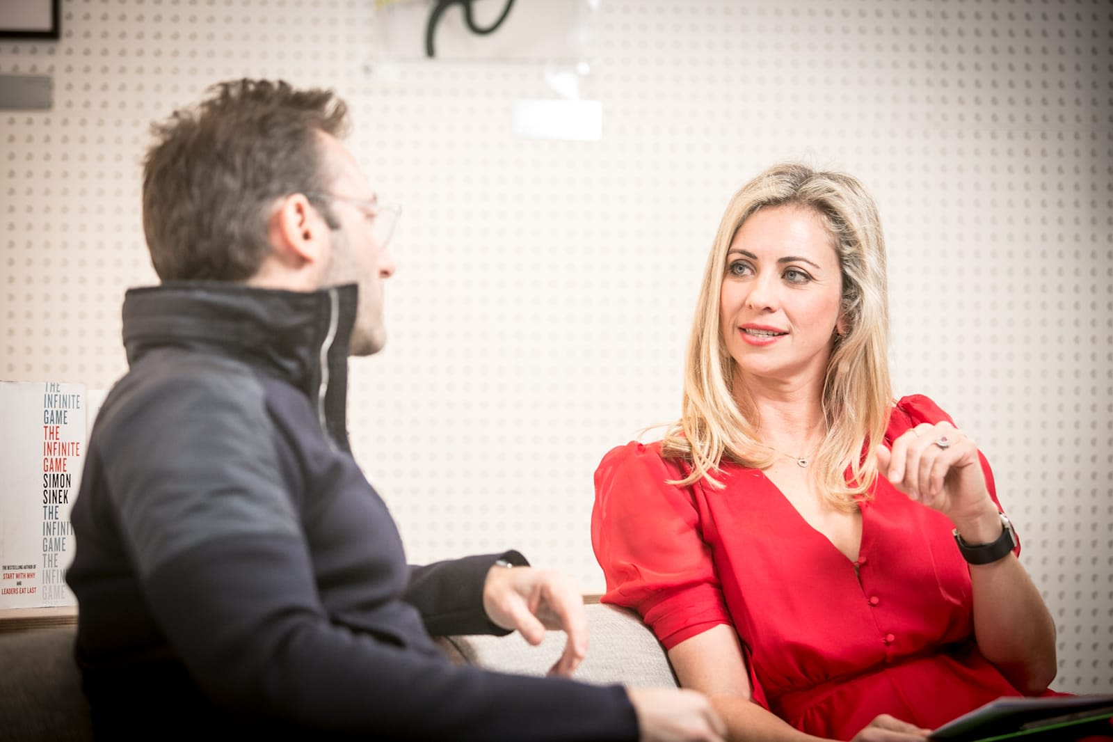 Simon Sinek and Holly Branson in conversation