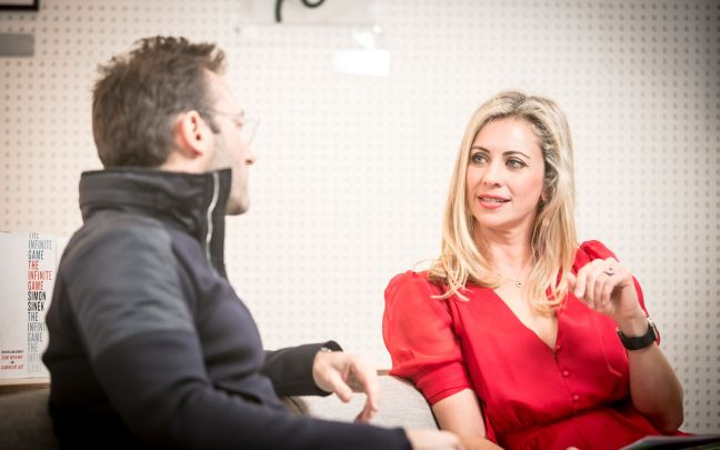 Holly Branson Interviewing the author and thought leader, Simon Sinek