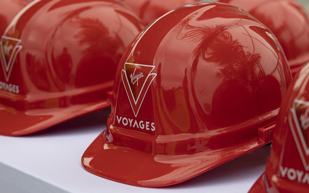 Virgin Voyages hard hats