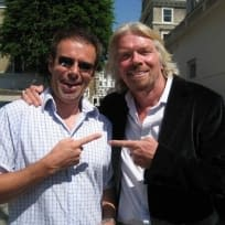 Ian Usher and Richard Branson
