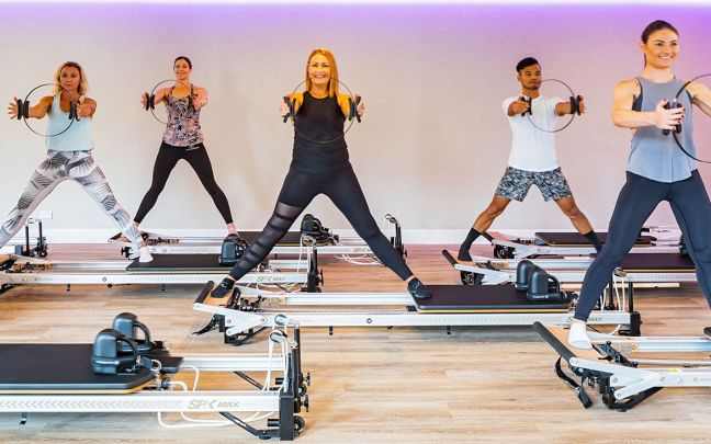 Virgin Active Australia reformer pilates class