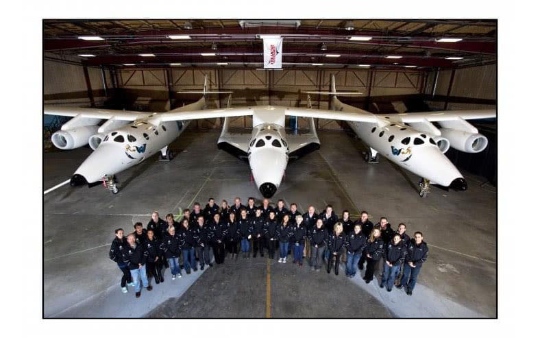 Charmaine Clarke with the team at Virgin Galactic