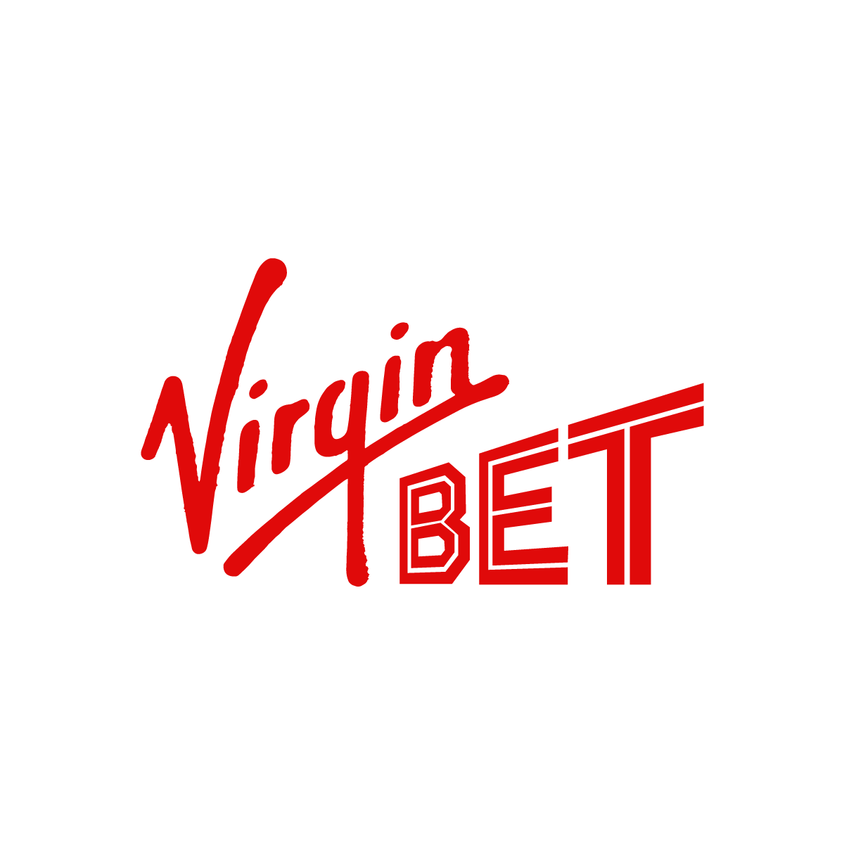 Virgin Bet logo in red - on a white background.