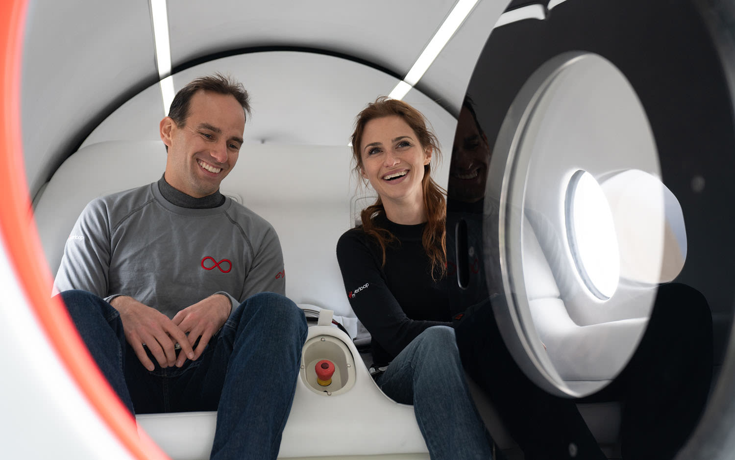Josh Giegel and Sara Luchian in the XP-2 pod
