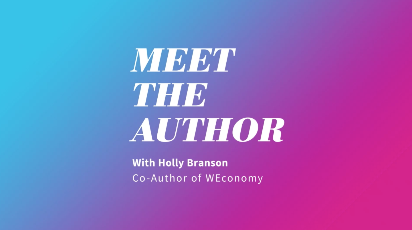 Meet the Author interview with Holly Branson poster