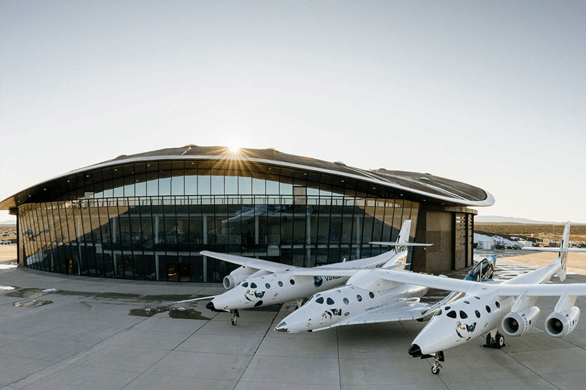 Virgin Galatic's VSS Unity and VMS Eve at Spaceport America