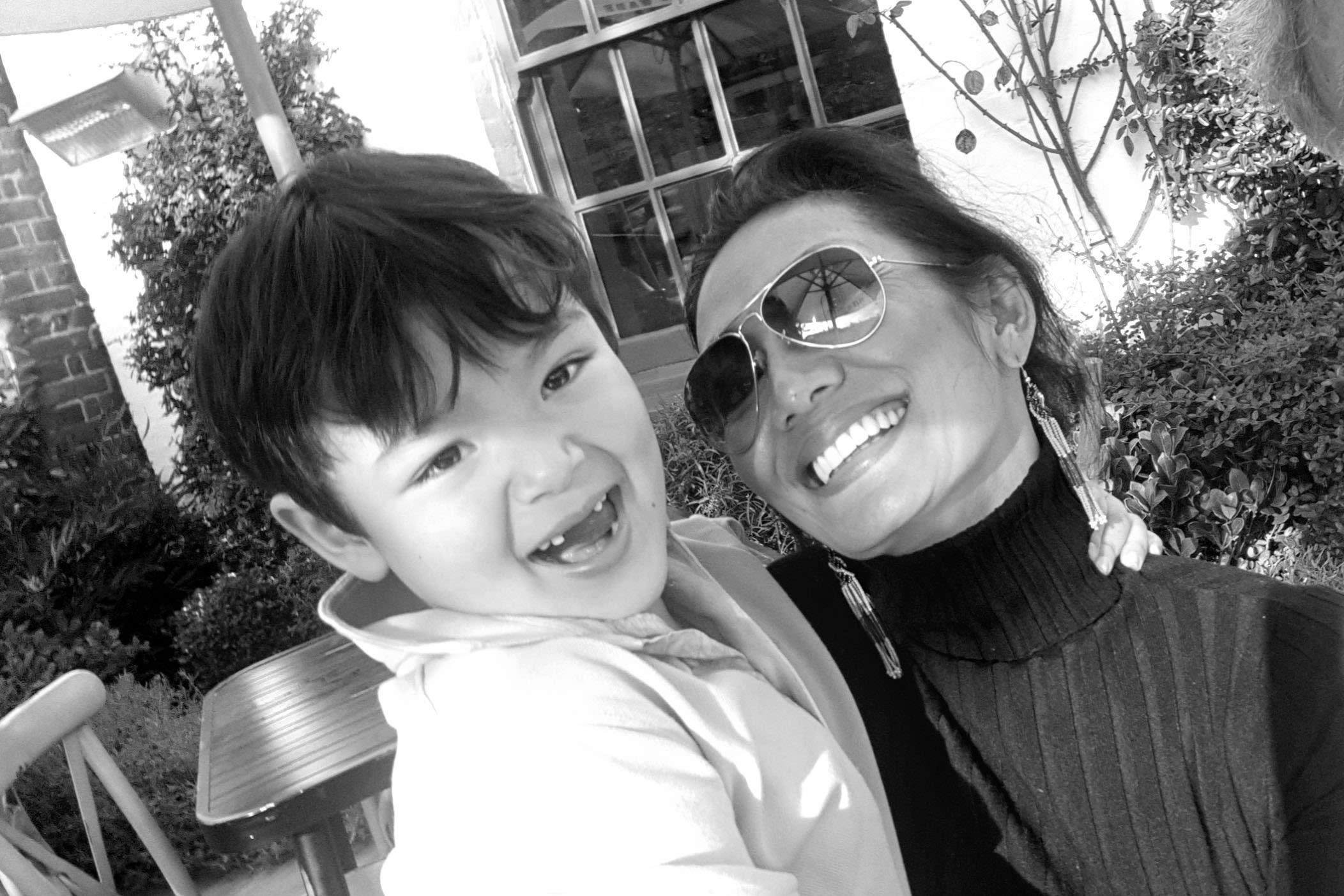 Phyu Thant Sin-Ovey and her son