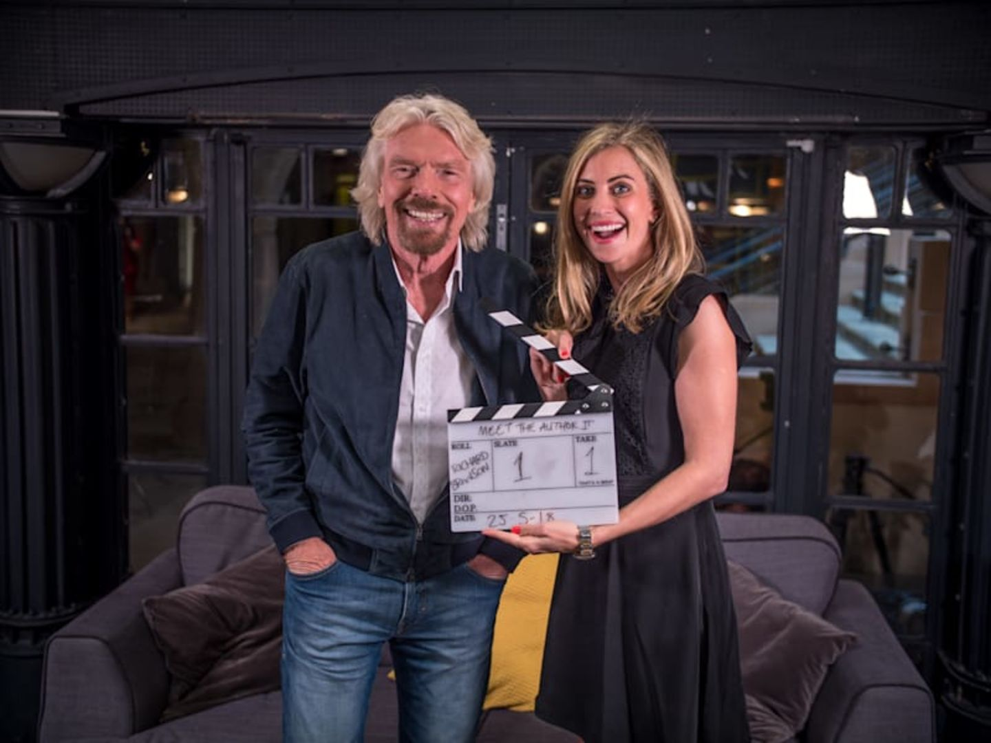 Richard and Holly Branson smiling together