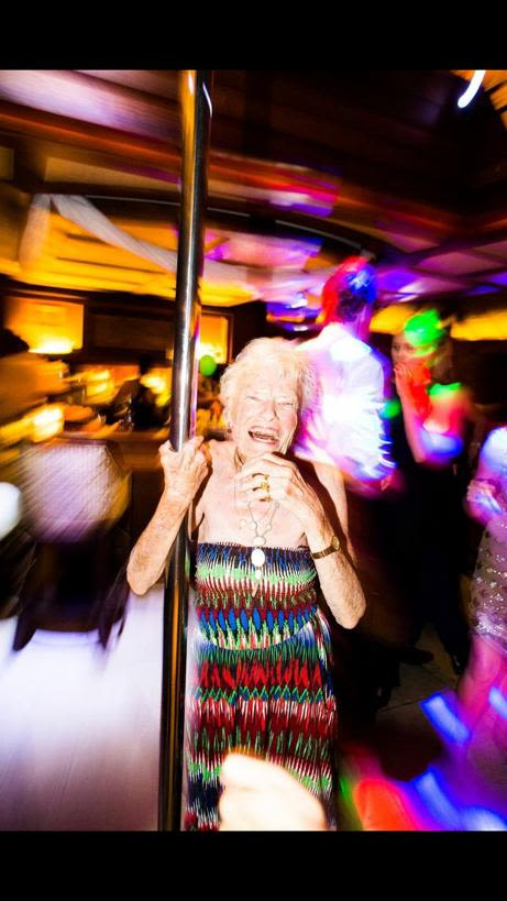 Eve Branson enjoying a night out with family