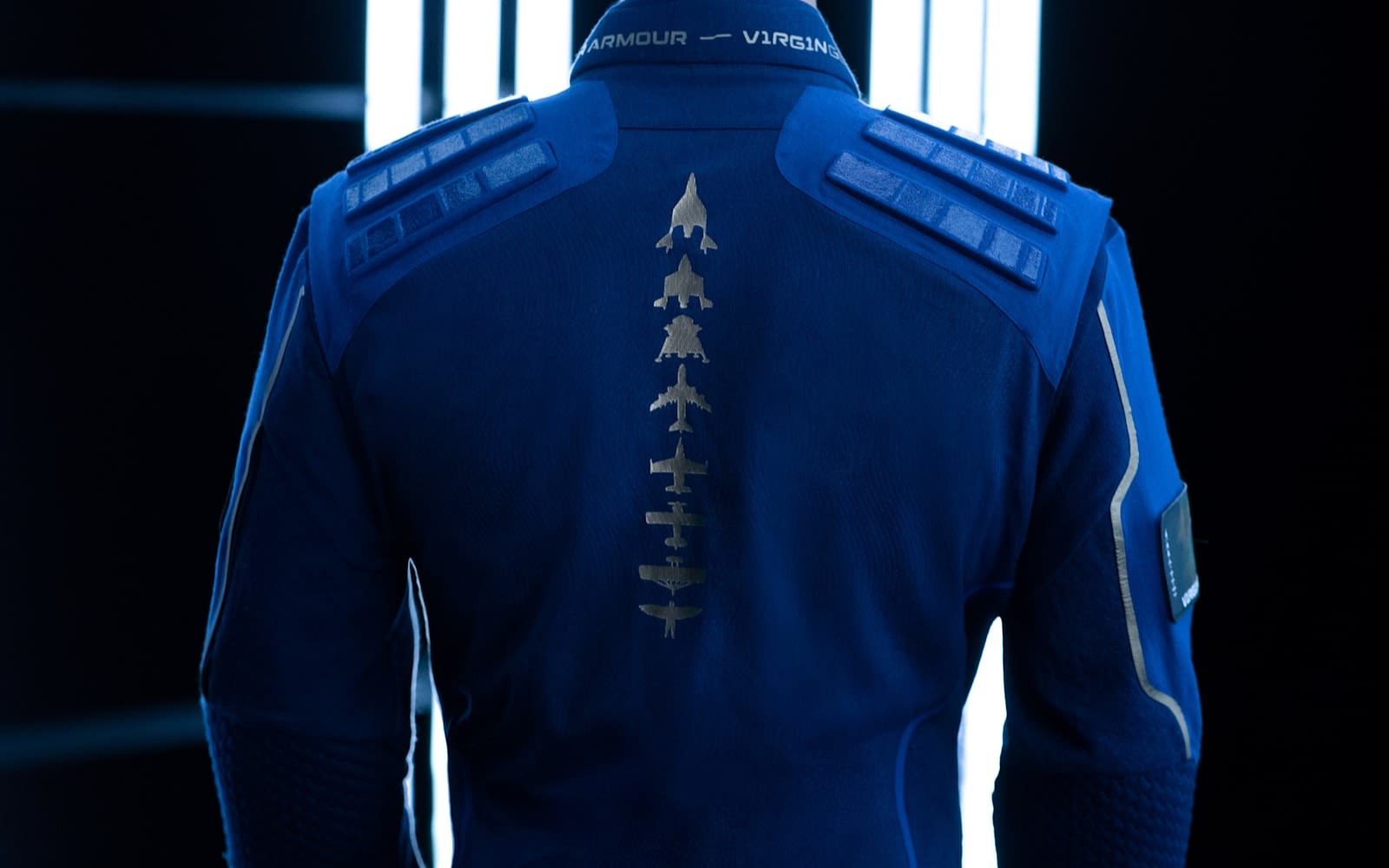The back detail of the Virgin Galactic spacesuit