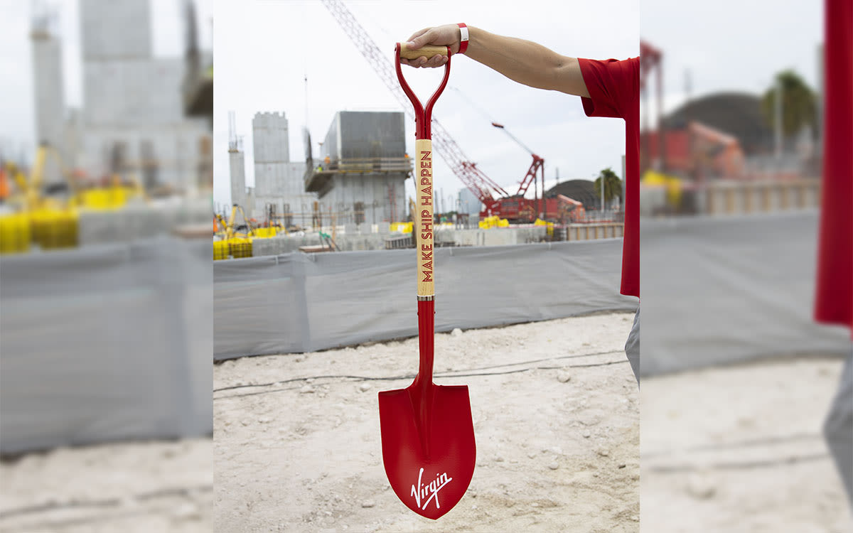 A Virgin Voyages shovel