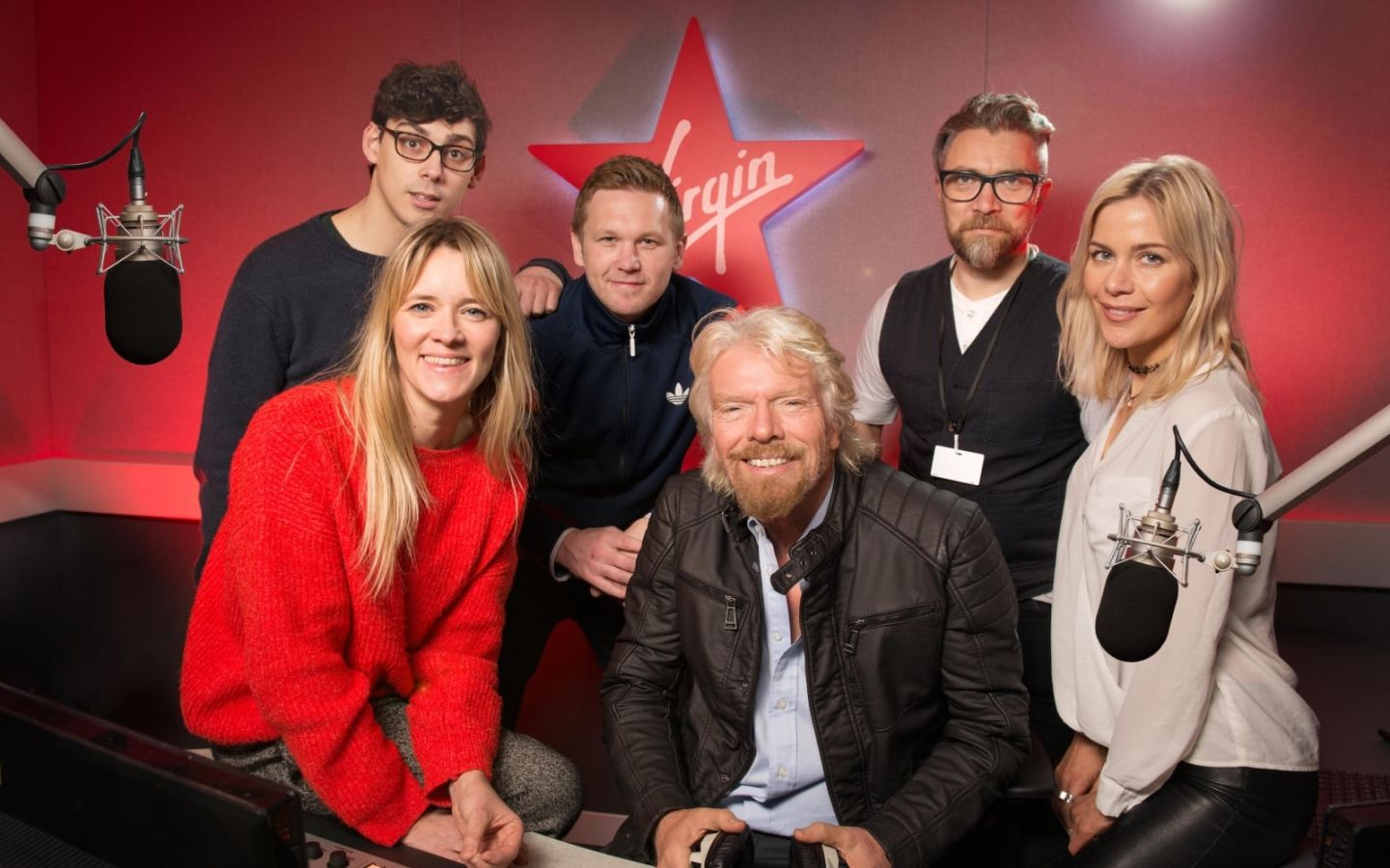 Richard Branson with Virgin Radio UK DJs