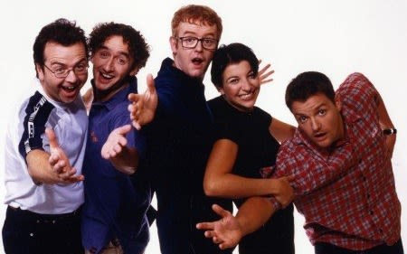 Chris Evans and other Virgin Radio UK presenters from 1993