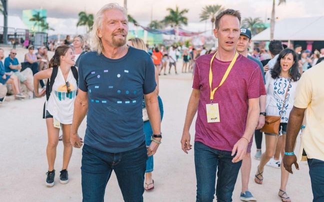 Richard Branson and Jason Feltz at KAABOO