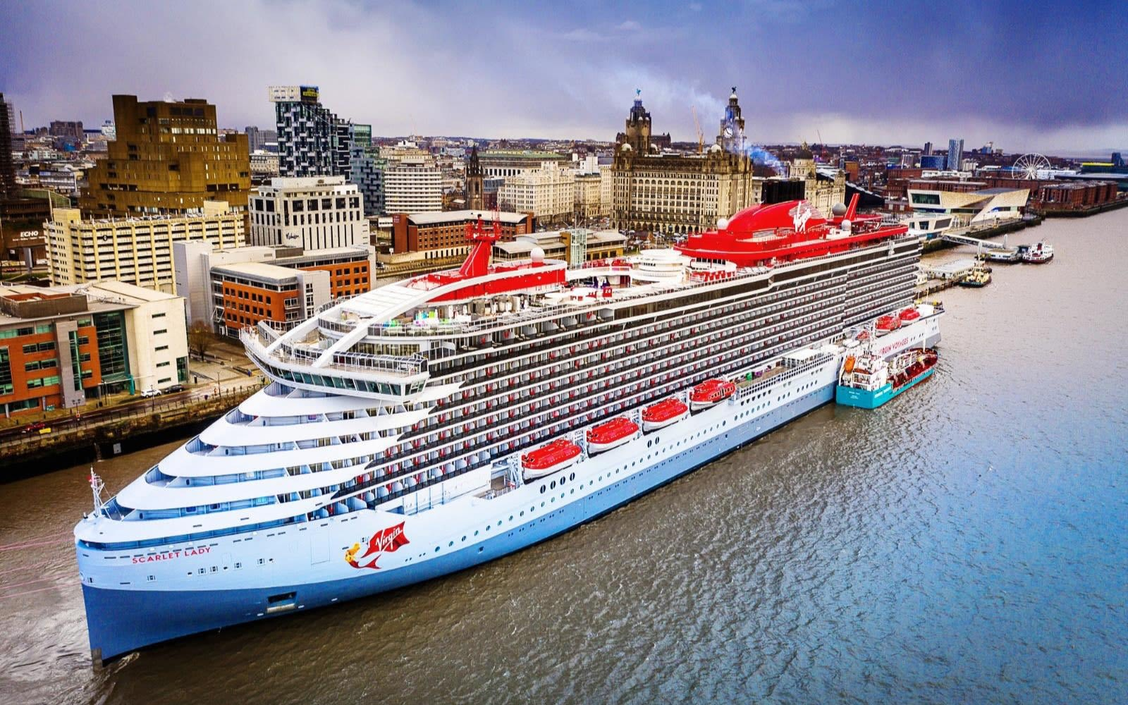 Virgin Voyages' Scarlet lady arrives in Liverpool