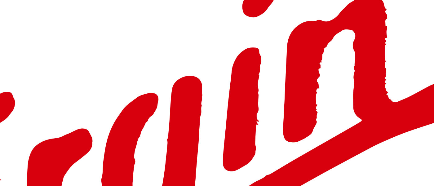 Red Virgin script logo on white background