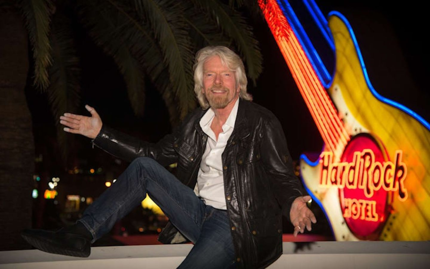 Richard Branson at the Hard Rock Hotel, which is set to become Virgin Hotels Las Vegas