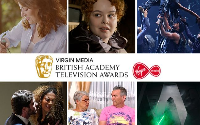 The nominees for the Virgin Media Must-See Moment at the Virgin Media BAFTAs