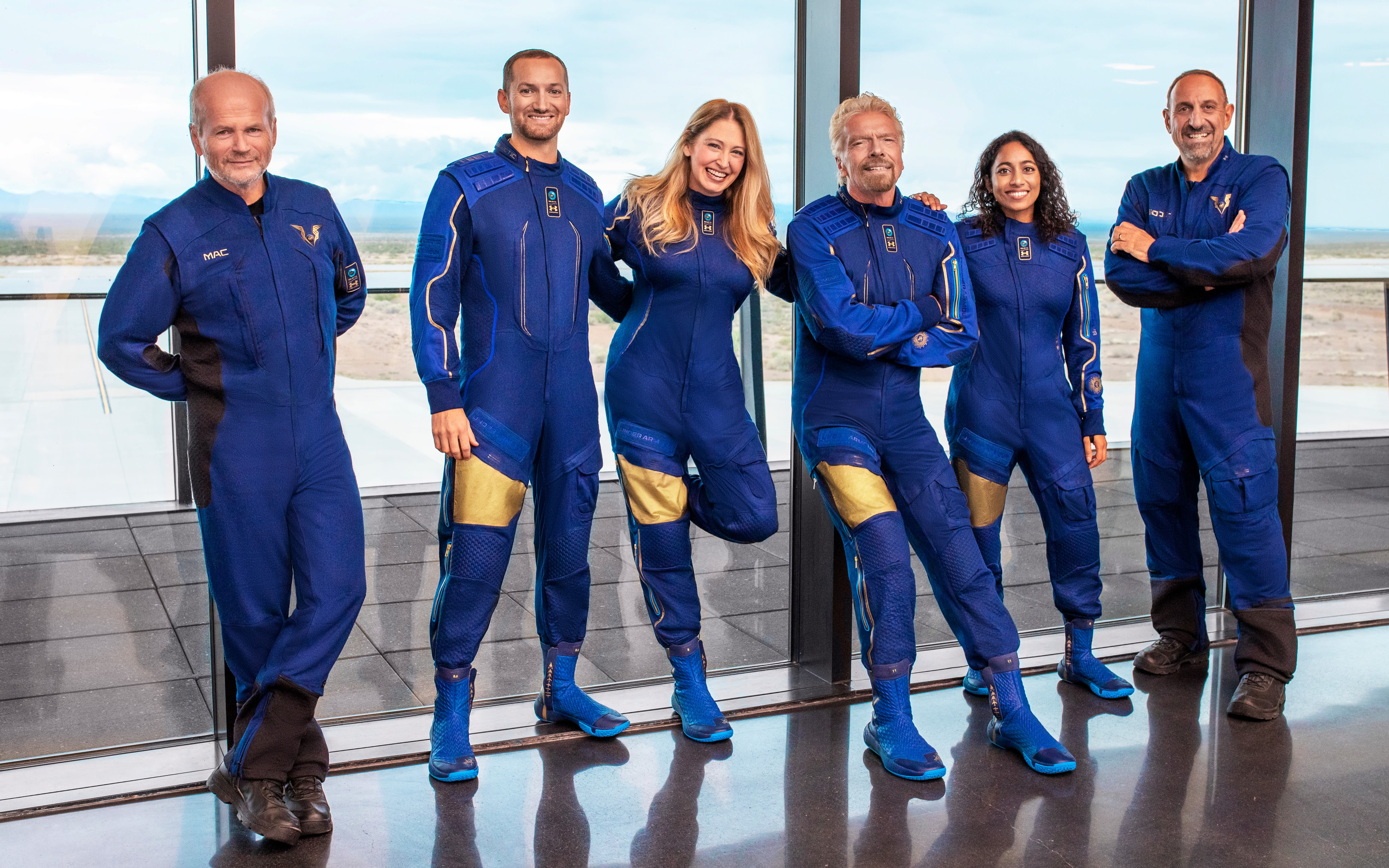 The Virgin Galactic Unity 22 crew