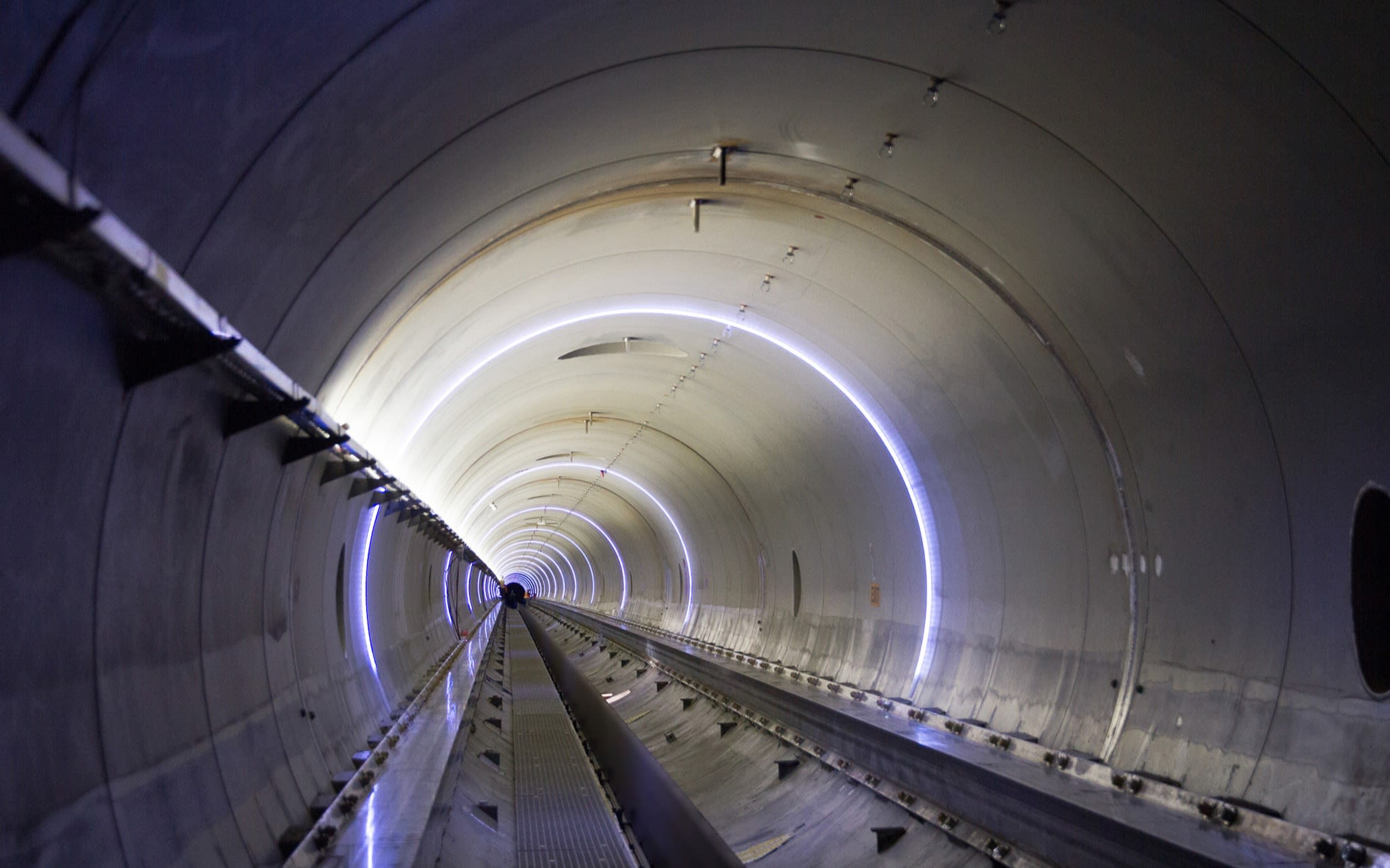 Inside of the Hyperloop