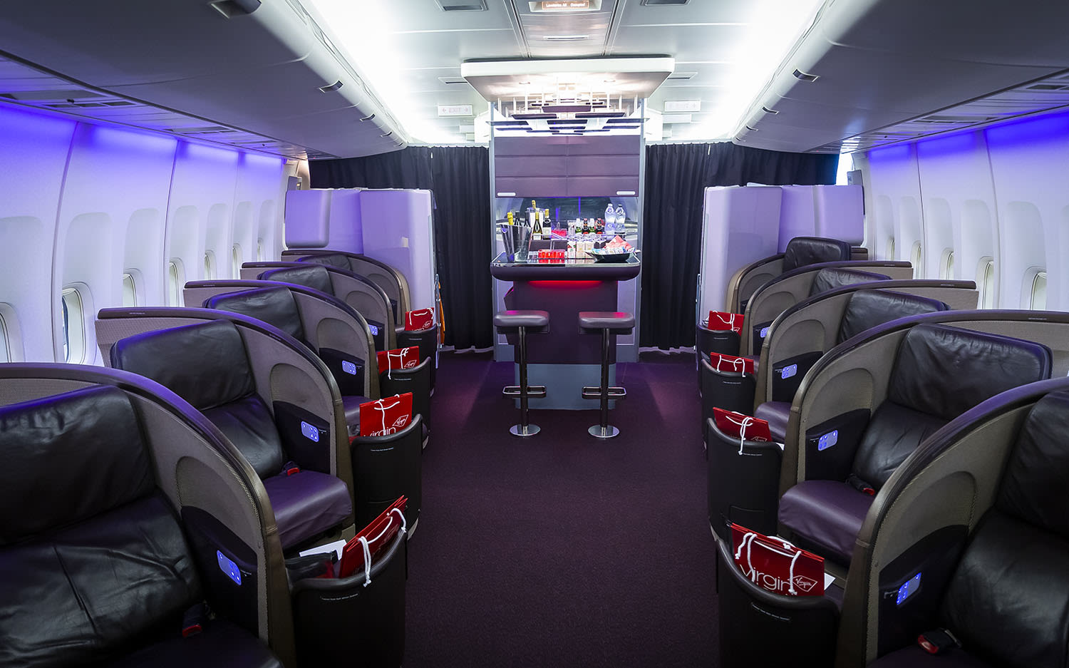 Virgin Atlantic Upper Class on a Boeing 747