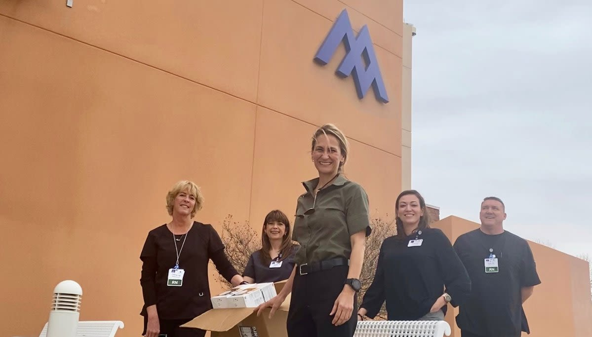 Virgin Galactic team members donating items to hospitals during the coronavirus pandemic