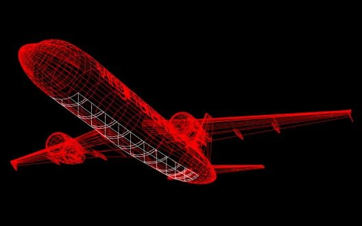 Diagram of Virgin Atlantic's glass bottom plane