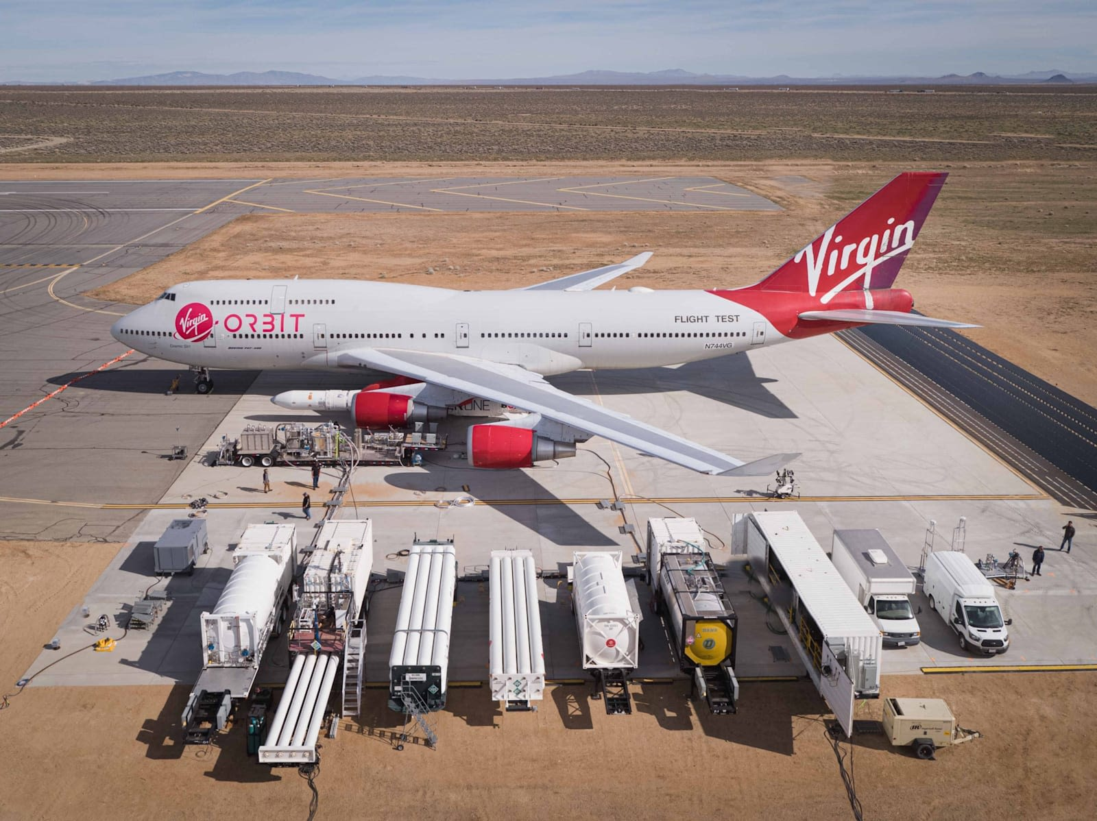 Virgin Orbit's adapted Boeing 747 Cosmic Girl