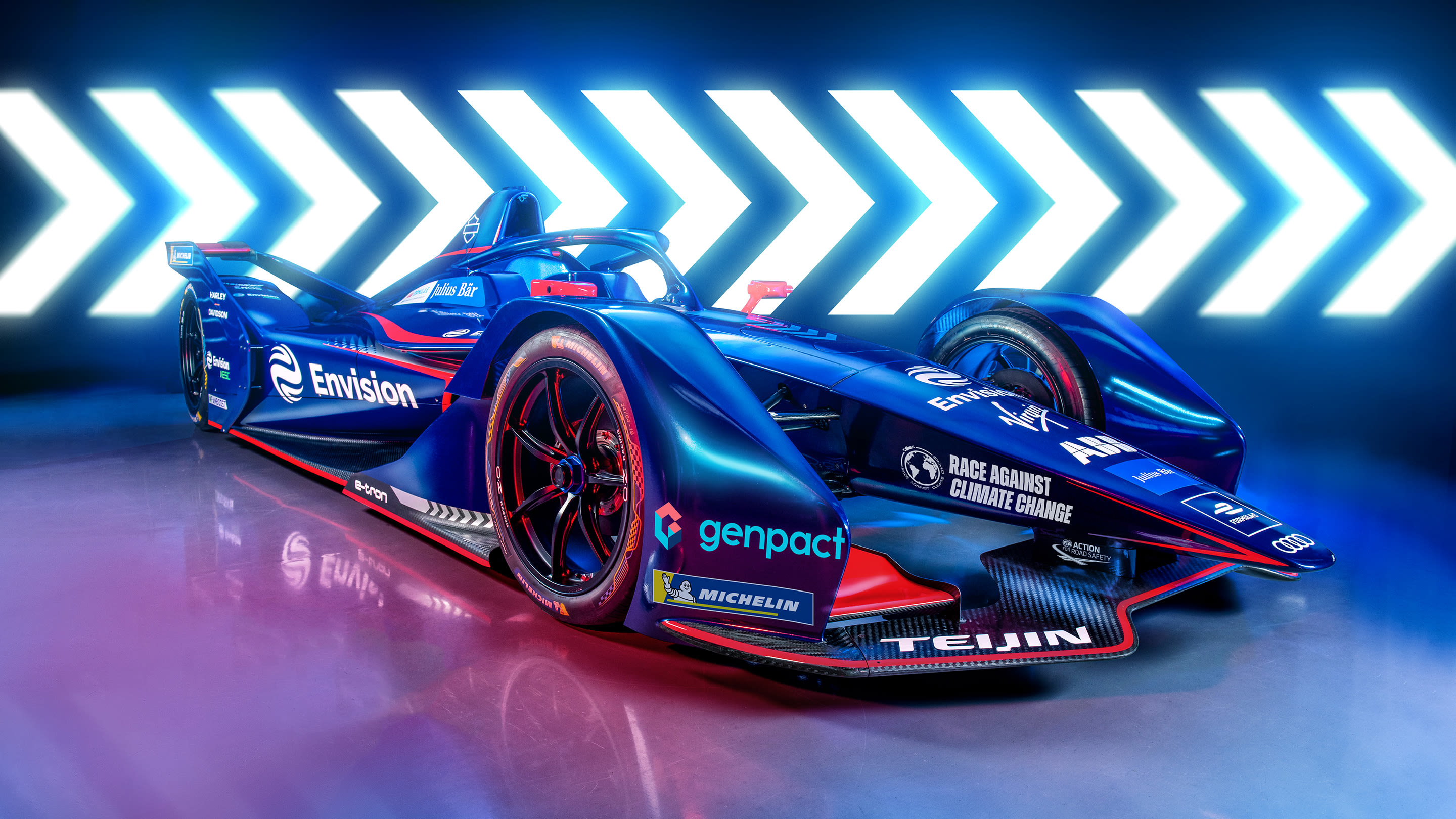 Graphic of the Envision Virgin Racing S7 car