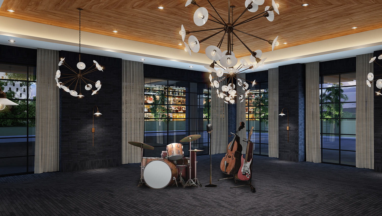 Render of the Maybelle room at Virgin Hotels Nashville