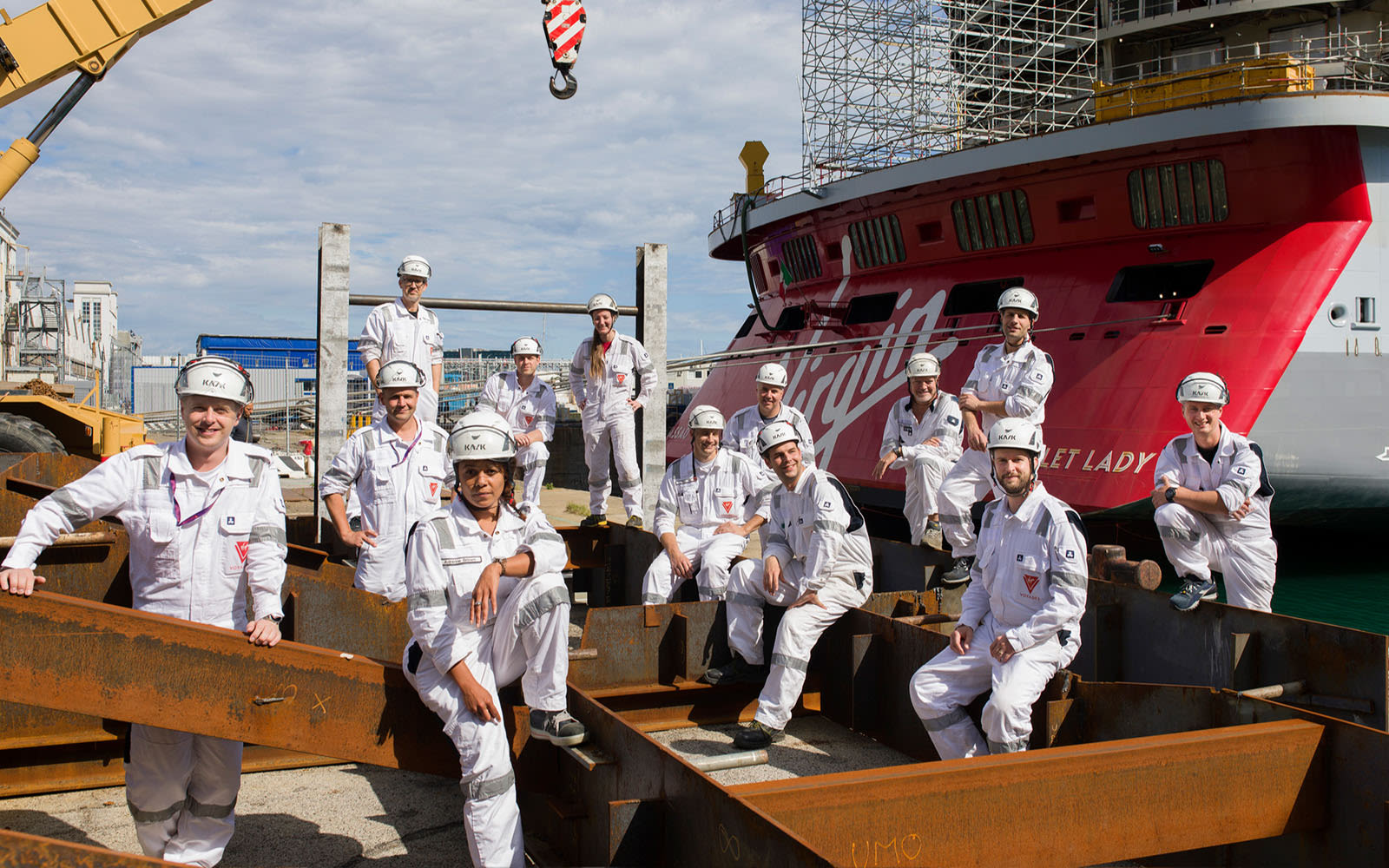 Virgin Voyages shipyard team